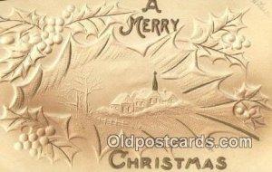 Christmas writing on back