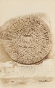 RP: MEXICO CITY , Mexico , PU-1959 ;  Aztec Sun Stone