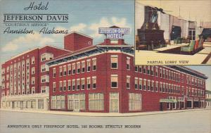 Alabama Anniston Hotel Jefferson Davis Curteich