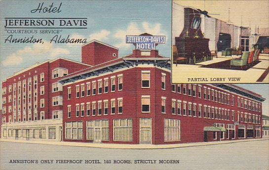 Alabama Anniston Hotel Jefferson Davis Curteich