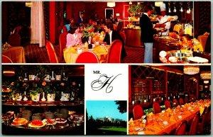 Beverly Hills CA Postcard MR. H RESTAURANT Buffet Beverly Hilton Hotel c1970s