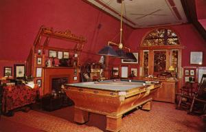 CT - Hartford.Mark Twain's House. Billiard Room