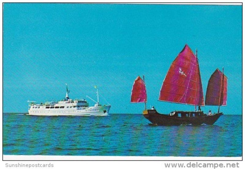 Bahamas Grand Bahama Island S S Grand Bahama and Original Chinese Junk From G...