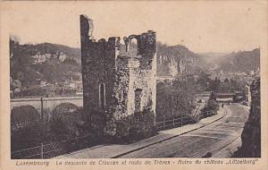 LUXEMBOURG, 1900-1910's; La Descente De Clausen Et Route De Treves, Ruine Du ...