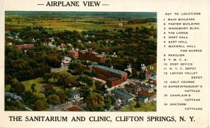 NY - Clifton Springs. Sanitarium, Aerial View
