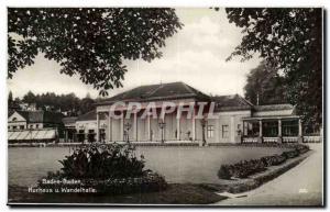 Old Postcard Baden Baden Kurhaus u Wandelhalle