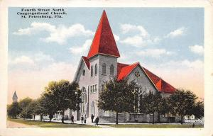 St Petersburg Florida~Fourth Street North Congregational Church on Corner 1920s
