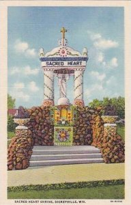 Wisconsin Dickeyville Sacred Heart Shrine Curteich