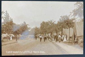 Mint USA Postcard RPPC Civil War Camp Shaver Little Rock Arkansas Veterans