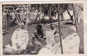 Samoa Admiral Coonts Admiral Robison and Samoan Princess Real Photo