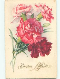 Very Old Foreign Postcard BEAUTIFUL FLOWERS SCENE AA4422