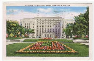 Court House Birmingham Alabama 1941 linen postcard