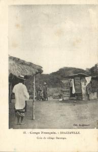 CPA Francais Congo Afrique - Brazzaville  - Coin de village Bacongo (86545)