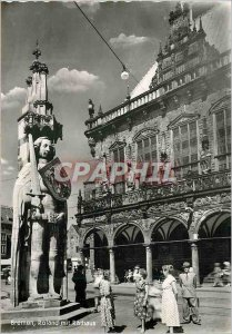 Postcard Modern Roland Bremen mit Rathaus