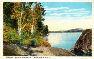 New York Adirondacks Saranac Lake and McKenzie Mountain