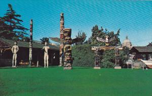 Canada Indian Totem Poles Victoria British Columbia