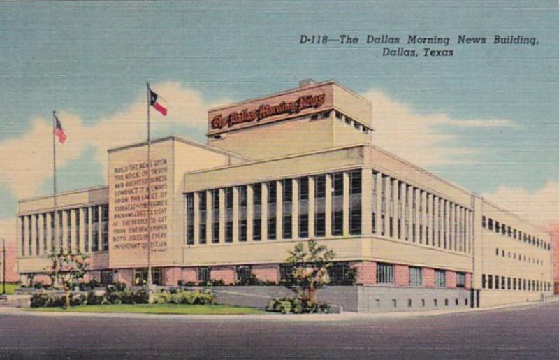 Texas Dallas The Dallas Morning News Building Curteich