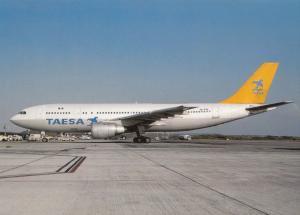 TAESA, A300B4-203, unused Postcard