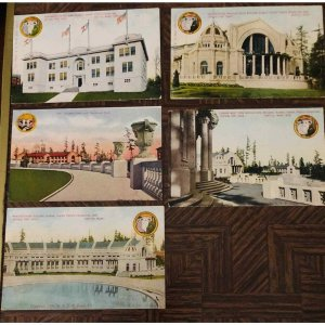 5 Postcards 1909 Seattle Exposition