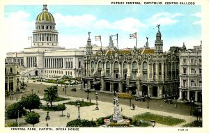 Cuba - Havana. Capitol, Central Park, Opera House