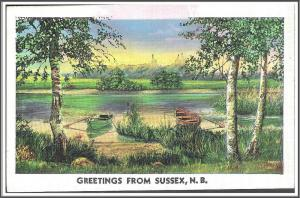 Greetings From Sussex, N.B. Canada Postcard