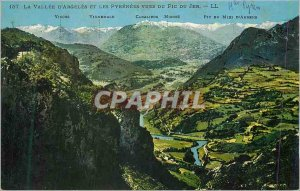 Postcard Old la Vallee d'Argeles and Pyrenees views of the Pic du Jer