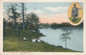 Children at Lake in Weequahic Park Newark NJ New Jersey Tobert Treat pm 1919 WB
