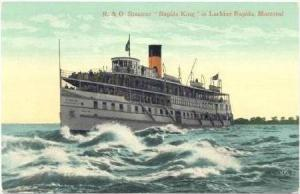 R & O Steamer  Rapids King  in Lachine Rapids,Montreal,Quebec,Canada 1900-10s