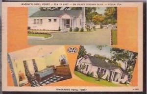 FL Ocala MacKays Hotel Court 1940