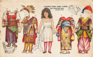 Children From Many Lands Dressing Doll Cut-Out Postcard #2