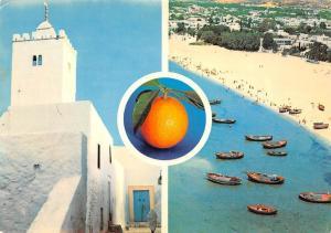 Tunisia Hammamet Tunisie Chiesa, Church Eglise, Plage Bateaux Boats Beach