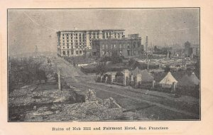 Ruins of Nob Hill & Fairmont Hotel, San Francisco, CA, Early Postcard, Unused