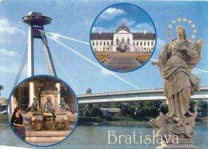 Slovakia Postcard Bratislava several sites and aspects