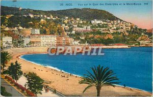 Postcard Old Nice view of the United States Quay