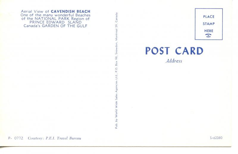 CANADA   PC417    CAVENDISH BEACH