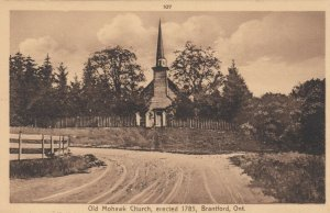 BRANTFORD , Ontario , 1930s ; Old Mohawk Church, Erected 1785