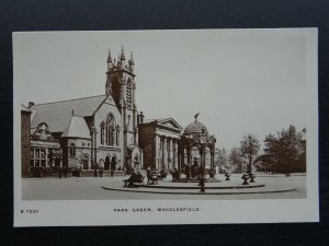 Cheshire MACCLESFIELD Park Green - Old RP Postcard by Kingsway S7332