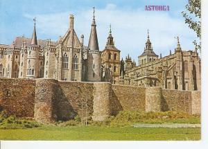 Postal 045903 : Astorga. Palacio Gaudi Catedral y Murallas