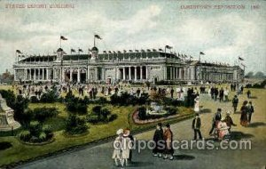 State Exhibit Building Jamestown Exposition 1907, 1907 crease right bottom ed...