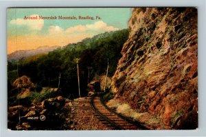 Reading PA-Pennsylvania Around Neversink Mountain, Railroad, Vintage Postcard