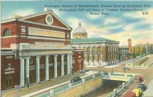 Huntington Avenue at Massachusetts Avenue, Boston 1930s-1...