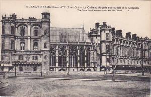 SAINT GERMAIN EN LAYE, Yvelines, France, 1900-1910's; Le Chateau Et la Chapelle