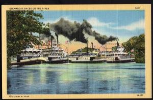 California ~ Steamboat Races on the Sacramento and San Joaquin Rivers - LINEN