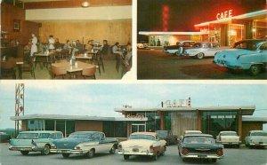Baxtone El Reno Oklahoma Hensley's Consumers Cafe Night Neon Postcard 20-11408