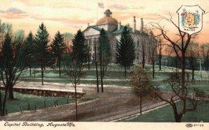 Augusta, Maine, ME, Capitol Building, Unused Vintage Postcard g8256