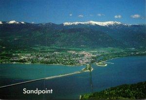 Idaho Sandpoint On Lake Pend Oreille Schweitzer Mountain Ski Area In Background