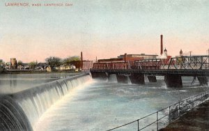 Lawrence Dam Massachusetts Postcard