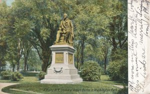 Albany NY, New York - Robert Burns Statue in Washington Park - pm 1906 - UDB