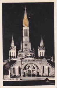 France Lourdes La Basilique illuminee Photo