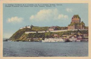 Chateau Frontenac and Citadel from Ferry, Quebec, Canada,  30-40s